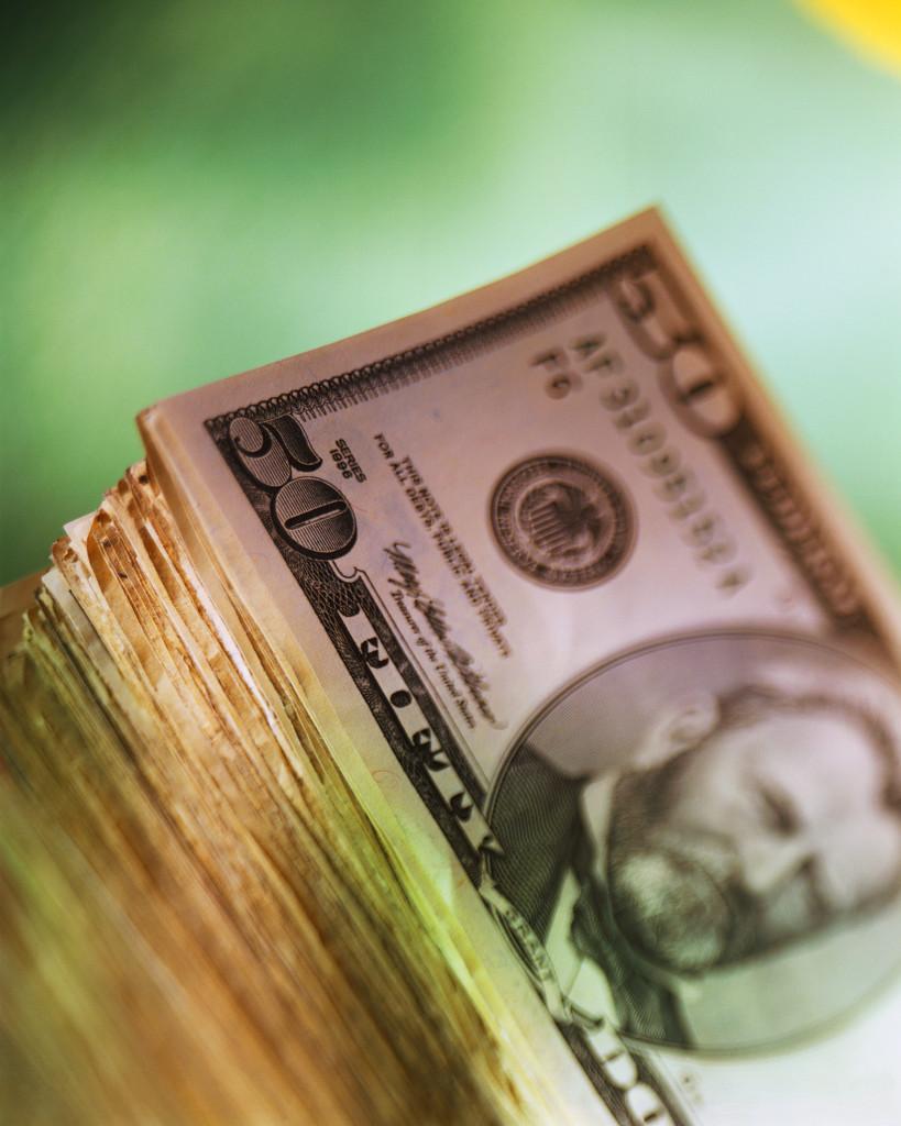 Stack of Fifty Dollar Bills