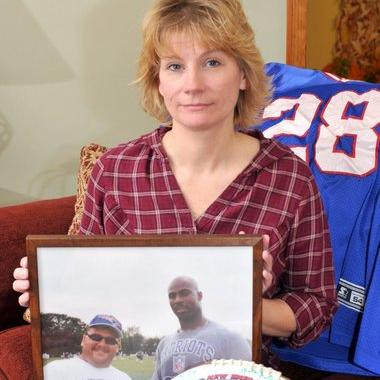 Kimberly Chartier is suing the New England Patriots for $10 million for the Wrongful Death of her husband.